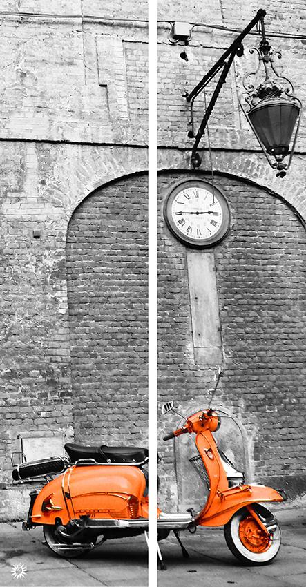 Dittico Lambretta arancio
