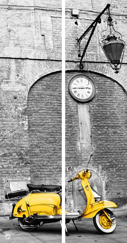 Dittico Lambretta gialla