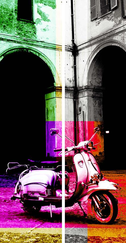 Dittico Lambretta multicolor