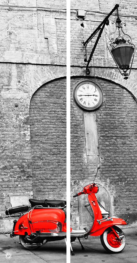 Dittico Lambretta rosso