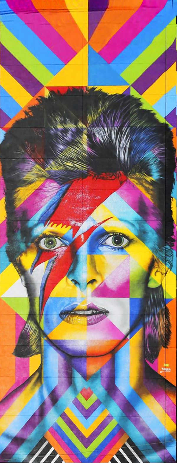 David Bowie Mural by Eduardo Kobra